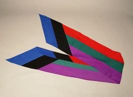 Vintage Long Scarf Color Block - $29.70