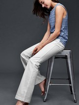 GAP AUTHENTIC 1969 patch pocket flare jeans, white, size 33 Short, NWT - $65.00