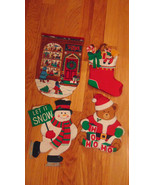 Christmas Iron On Transfers-Christmas Store Front-Stockings-Snowman-Sant... - $9.99