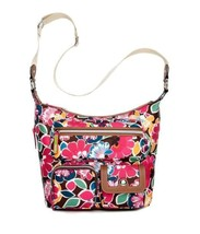 NWT Lily Bloom Nina Messenger Crossbody Shoulder Bag Floral Firework SHI... - $52.75