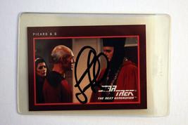 1991 Star Trek:TNG 25th Anniversary Card - Autographed by Jonathan de La... - $22.95