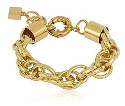 Goldtone 13mm 9 Inch Rolo Chain Bracelet - $6.81