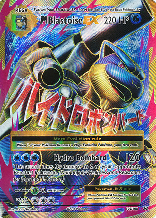 M Blastoise EX 102/108 Full Art Ultra Rare XY Evolutions Pokemon Card