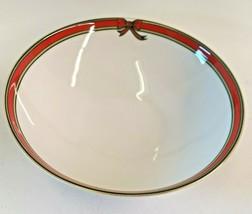 Royal Doulton Ribbon Serving Bowl 1986 English Porcelain Christmas TC1171 - $49.45
