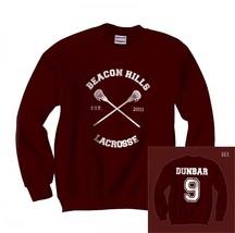 Liam Dunbar 9 CROSS Beacon Hills Lacrosse team wolf Unisex Crewneck Swea... - $34.00+
