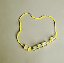 Handmade Vintage Jewelry Yellow Translucent Lucite Plastic Beads Art Dec... - $49.50
