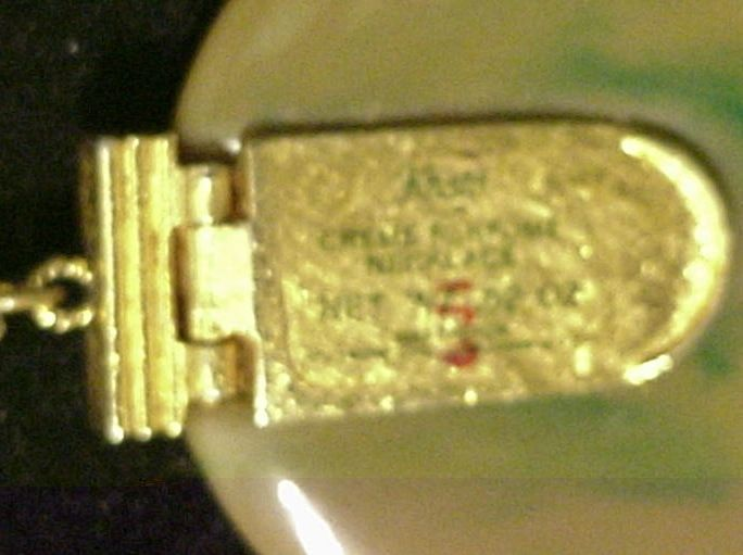 Vintage Max Factor Solid Perfume Necklace Khani Fragrance
