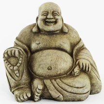 Happy Buddha Concrete Statue  - $54.00