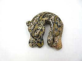 Rare Sunya Currie Leopard Jasper Brooch Pin - $94.05