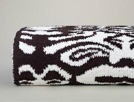 Kashwere Damask Chocolate Brown and Cream Throw Blanket - $175.00