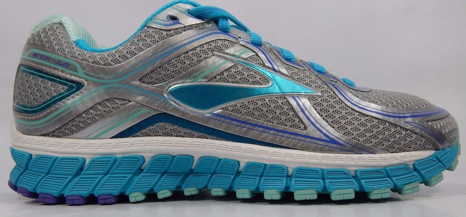 dd657fc85b93 Brooks GTS 16 Women s Running Shoe Size US 9.5 M (B) EU 41 Silver ...
