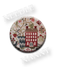 Strawberry Fields Needle Nanny needle minder Blackbird Designs Quilt Dots  - $12.00