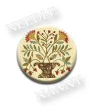 Sweet Cherry Wine Needle Nanny needle minder Blackbird Designs Quilt Dots  - $12.00