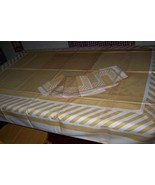 Mint Callaway vintage tablecloth with paper tag - $45.00