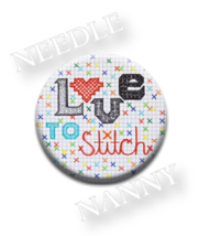 Love To Stitch Needle Nanny needle minder cross stitch accessory Quilt D... - $12.00