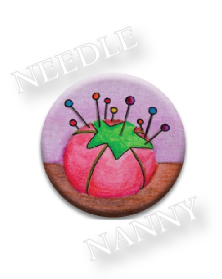 Ol Red Needle Nanny pincushion needle minder cross stitch accessory Quilt Dots