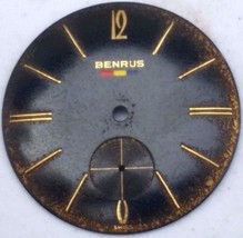 Benrus black pilot dial vintage 28 mm Watch Par... - $12.99
