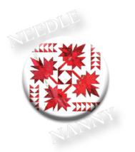 O Canada Needle Nanny needle minder cross stitch accessory Quilt Dots  - $12.00