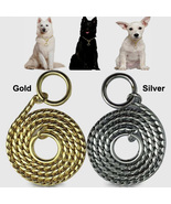 New Snake P Chock Chain Dog Show Training Collar Metal Pet Neck Collars ... - $29.00+