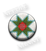 Feathered Stars Needle Nanny needle minder cross stitch accessory Quilt ... - $12.00