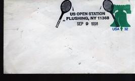 U. S. STAMPS- 32 Cent  Stamped Envelop USA - US Open Station 9/9/98 Flus... - $1.00