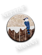Blue Bird Needle Nanny needle minder cross stitch accessory Quilt Dots  - $12.00