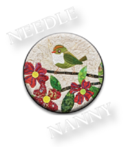 Songbird Needle Nanny needle minder cross stitch accessory Quilt Dots  - $12.00