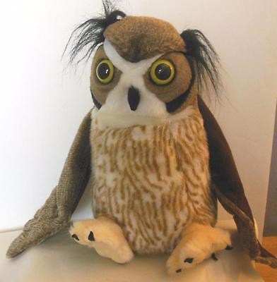 "Wild Republic Plush Great Horned Owl 2009 11"""