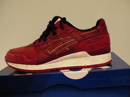 Asics running shoes gel-lyte iii size 8.5 us men burgundy/burgundy new w... - $79.15