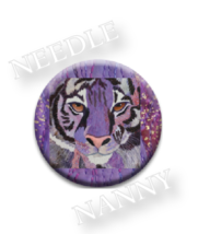 Purple Tiger Needle Nanny needle minder cross stitch accessory Quilt Dots  - $12.00