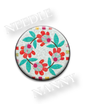 Posies Needle Nanny needle minder cross stitch accessory Quilt Dots  - $12.00