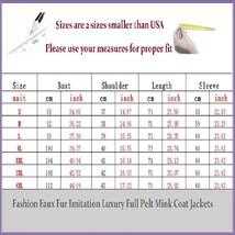 Long Full Pelt Classic Black Fox Faux Fur O Neck with Long Sleeves Luxury Coat image 3