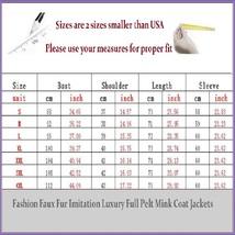 Long Full Pelt Blush Pink Fox Faux Fur with O Neck Long Sleeves Luxury Fur Coat image 3