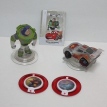 Disney Infinity Buzz Lightyear Lightning Figures Power Discs & Game Card... - $19.72
