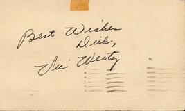 VIC WERTZ Autograph on 1951 GPC Cleveland Indians slugger - $9.90