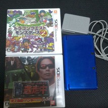 Nintendo 3DS Color Cobalt blue with 2 Software Used - $73.33