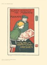 "OTTO FISCHER Kunst-Anstalt fur Moderne Plakate 11.5"" x 8.25"" Lithograph 1897 - $123.75"