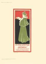 """GISBERT COMBAZ La Libre Esthetique 11.5"""" x 8.25"""" Lithograph 1897 Vintage Green, - $123.75"""