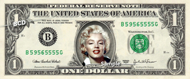 MARILYN MONROE on REAL Dollar Bill Cash Money Collectible Celebrity Memo... - $6.66
