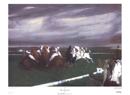 """GEORGE BELLOWS Polo at Lakewood 23"""" x 31.5"""" Poster 1983 Brown - $70.13"""