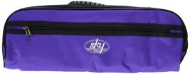 Sky Brand New C Flute Hard Case Cover w Side Pocket/Handle/Strap Purple ... - $21.77