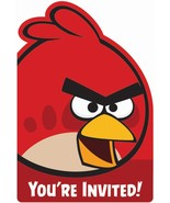 amscan Angry Birds Invitations x8 - $6.88