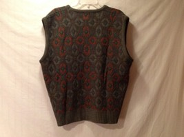 Men's LONDON FOG XL Multi-Colored Diamond Patterned V-Neck Vest image 4