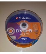 Verbatim DVD-R 16x Speed 4.7gb 120 Min 25-Pack Spindle Life Series - $14.84