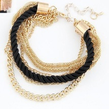 50X Women's Fashion Multilayer Gold Chain Braided Rope Bracelet - Beige ... - $103.49