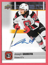 2019-20 Joseph Garreffa Upper Deck CHL Rookie Auto - Ottawa 67s - $4.74