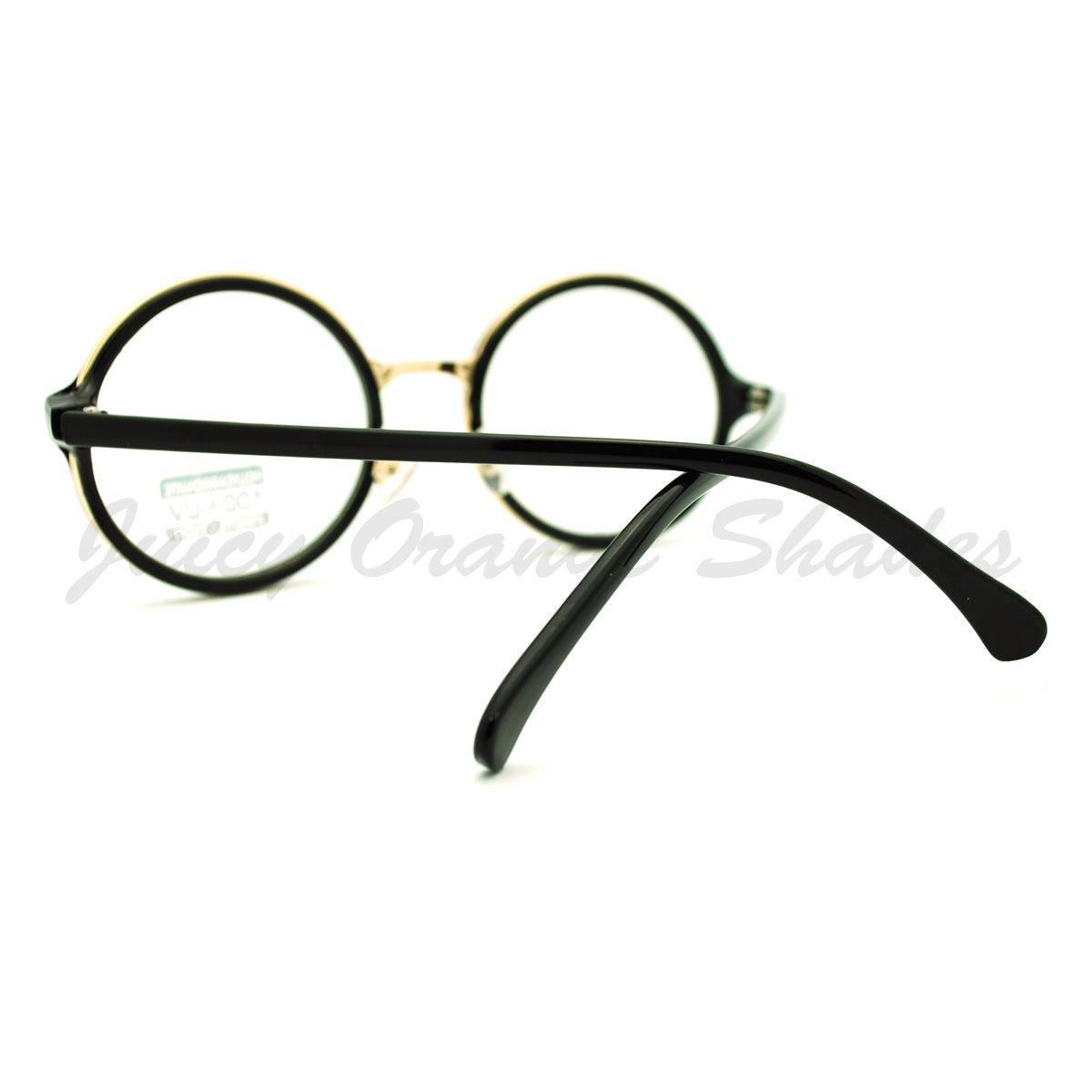 Round Clear Lens Glasses Classic Circle Frame Eyeglasses Unisex