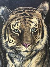 "BIEDERLACK Tiger Head Blanket Throw Cream Blue Red Nose Brown 60""x80"" Ma... - £57.38 GBP"