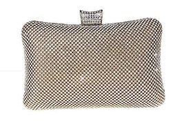 Bling Crown Clutch Purse Women Rhinestone Crystal Evening Clutch Bags--Golden