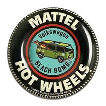 Mattel Hot Wheels Collector Badge Beach Bomb Design Round MDF Wood Sign - $29.65